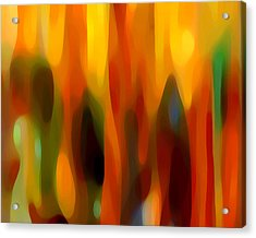 Abstract Forest Acrylic Print by Amy Vangsgard