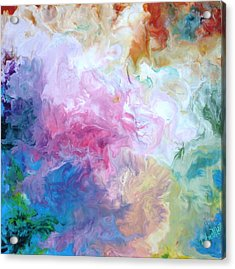 Abstract Forms Encaustic Acrylic Print by Lisa Kramer
