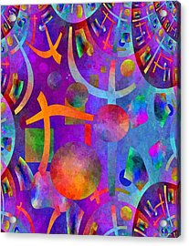 Abstract Fractillious - Episode One  Southwestern Acrylic Print by Glenn McCarthy Art and Photography