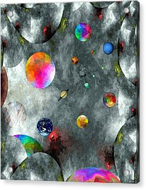 Abstract Fractillious-episode Two-creations Explosion Acrylic Print by Glenn McCarthy Art and Photography