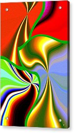 Abstract Fusion 200 Acrylic Print by Will Borden