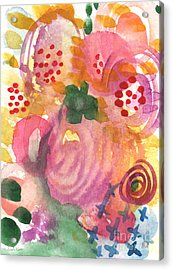 Abstract Garden #44 Acrylic Print by Linda Woods
