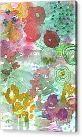 Abstract Garden Acrylic Print by Linda Woods