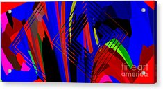 Abstract Geometric Art Acrylic Print by Mario Perez