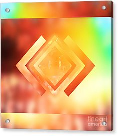 Abstract Geometric Gradient Colors Acrylic Print by Beverly Claire Kaiya
