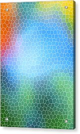 Abstract Glass Pattern Acrylic Print