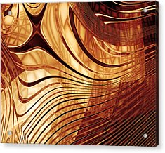 Abstract Gold 2 Acrylic Print