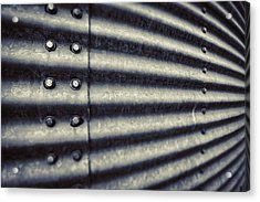 Abstract Grain Silo Acrylic Print by Thomas Zimmerman