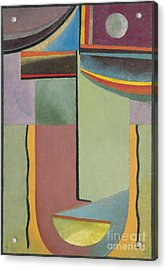 Abstract Head Acrylic Print by Celestial Images