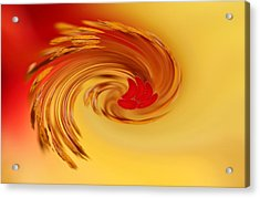 Acrylic Print featuring the photograph Abstract Swirl Hibiscus Flower by Debbie Oppermann