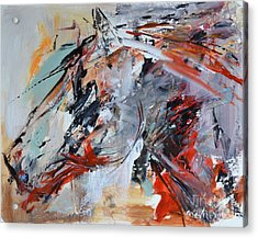 Abstract Horse 1 Acrylic Print by Cher Devereaux
