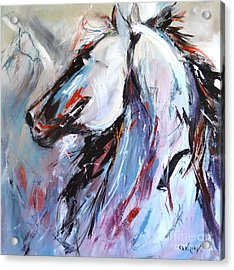 Abstract Horse 5 Acrylic Print by Cher Devereaux