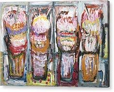 Abstract Ice Cream Sundaes  Acrylic Print by Kazuya Akimoto