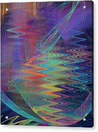 Abstract In Blue And Purple Acrylic Print