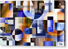 Acrylic Print featuring the painting Abstract In Blue by Curtiss Shaffer