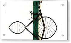 Abstract In Geometric Velocipede  Acrylic Print by Steven Digman