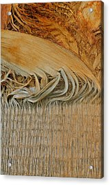 Abstract In Gold And Brown Acrylic Print by Kirsten Giving