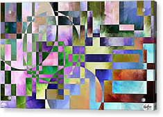 Acrylic Print featuring the painting Abstract In Lavender by Curtiss Shaffer