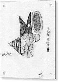 Abstract In Pencil Acrylic Print by Dan Twyman