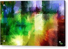 Acrylic Print featuring the painting Abstract In Primary by Curtiss Shaffer