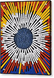 Abstract In Tape - Starburst Acrylic Print by Agustin Goba