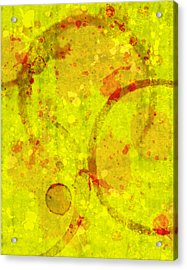 Abstract Ink And Water Stains Acrylic Print