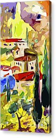 Abstract Italy Lago Di Como Acrylic Print