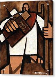 Tommervik Abstract Jesus Art Print Acrylic Print by Tommervik