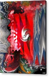 Acrylic Print featuring the digital art Abstract by Kelly McManus