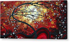 Abstract Landscape Art Original Painting Where Dreams Are Born By Madart Acrylic Print by Megan Duncanson