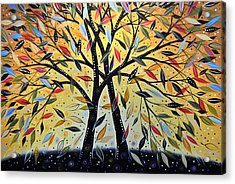 Abstract Landscape Modern Tree Art Painting ... New Day Dawning Acrylic Print by Amy Giacomelli