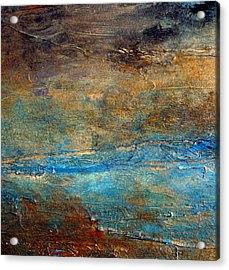 Rustic Abstract Landscape Painting Acrylic Print