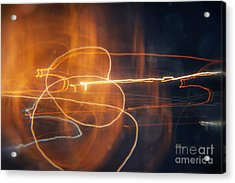 Abstract Light Streaks Acrylic Print by Pixel Chimp