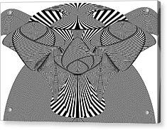 Abstract - Lines - Bad Dog Acrylic Print by Mike Savad