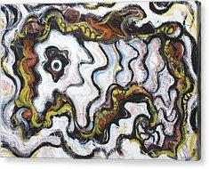 Abstract Lion Dance Acrylic Print by Kazuya Akimoto