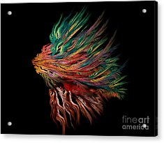 Abstract Lion's Head Acrylic Print by Klara Acel