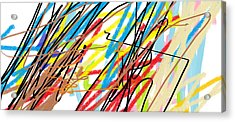 Abstract - Made By Matilde 4 Years Old Acrylic Print by Giuseppe Epifani