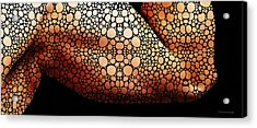 Abstract Male Form By Sharon Cummings Acrylic Print by Sharon Cummings