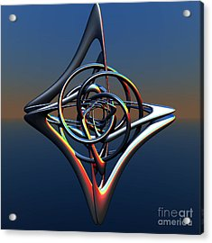 Acrylic Print featuring the digital art Abstract Metal by Melissa Messick