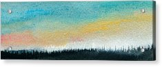 Abstract Minimalist Horizon Acrylic Print