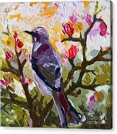 Abstract Mockingbird In Spring  Acrylic Print