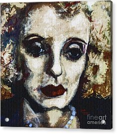 Abstract Modern Bette Davis Acrylic Print by Ginette Callaway