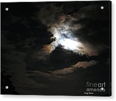 Abstract Moon Acrylic Print by Greg Patzer