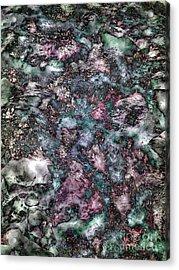 Abstract Mountain Creek Acrylic Print by Angela Bruno