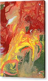 Abstract - Nail Polish - In A State Of Flux Acrylic Print by Mike Savad