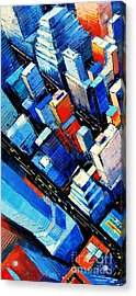 Abstract New York Sky View Acrylic Print by Mona Edulesco