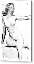 Abstract Nude 2 Acrylic Print by Steve K