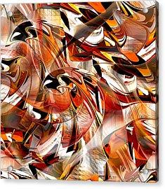 Acrylic Print featuring the digital art Birds Of Prey - 015 by rd Erickson