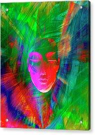 Abstract Of Meditating Human Face Acrylic Print