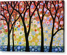 Abstract Original Modern Trees Landscape Print Painting ... Joyous Sky Acrylic Print